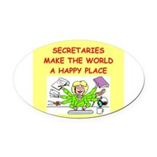 SECRETARY.png Oval Car Magnet