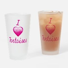 I Love/Heart Tortoises Drinking Glass
