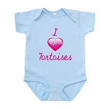 I Love/Heart Tortoises Infant Bodysuit