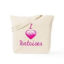 I Love/Heart Tortoises Tote Bag
