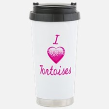 I Love/Heart Tortoises Travel Mug
