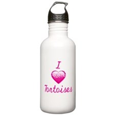 I Love/Heart Tortoises Water Bottle