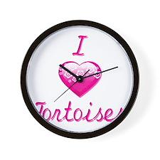 I Love/Heart Tortoises Wall Clock