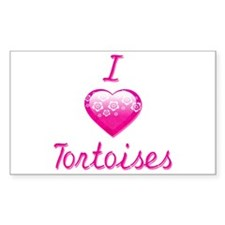 I Love/Heart Tortoises Decal