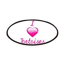 I Love/Heart Tortoises Patches
