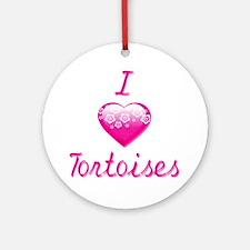 I Love/Heart Tortoises Ornament (Round)