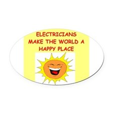 ELECTRICIAN.png Oval Car Magnet