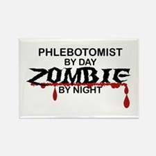 Phlebotomist Zombie Rectangle Magnet