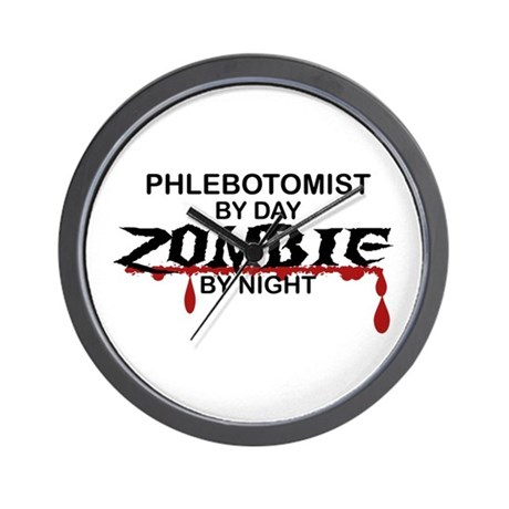 Phlebotomist Zombie Wall Clock