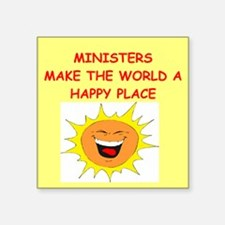 """MINISTERS.png Square Sticker 3"""" x 3"""""""
