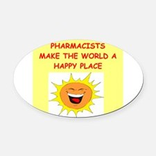 PHARMACISTS.png Oval Car Magnet