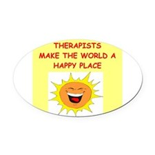 THERAPIST.png Oval Car Magnet