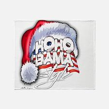 Obama Style Santa Throw Blanket