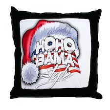 Obama Style Santa Throw Pillow