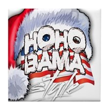 Obama Style Santa Tile Coaster