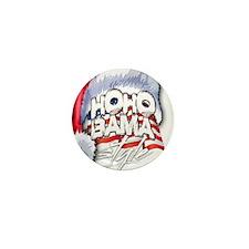 Obama Style Santa Mini Button