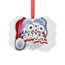 Obama Style Santa Picture Ornament