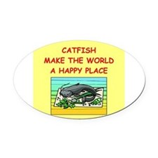 CATFISH.png Oval Car Magnet