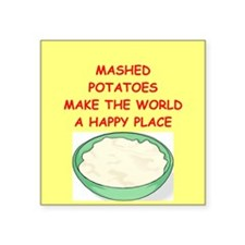"MASHED.png Square Sticker 3"" x 3"""