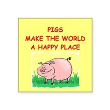 """PIGS.png Square Sticker 3"""" x 3"""""""