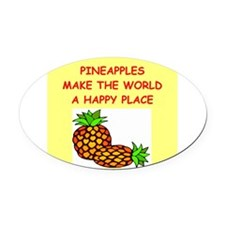 PINEaPPLES.png Oval Car Magnet