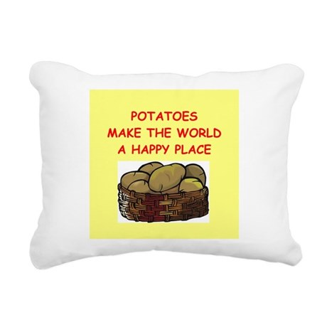 POTATOES.png Rectangular Canvas Pillow