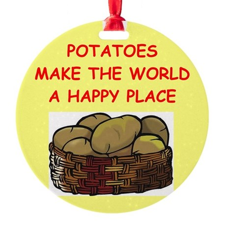 POTATOES.png Round Ornament