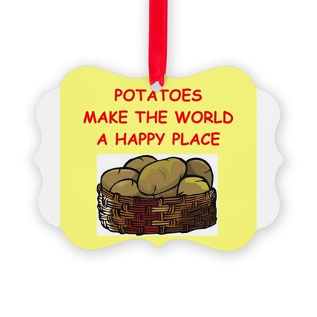 POTATOES.png Picture Ornament