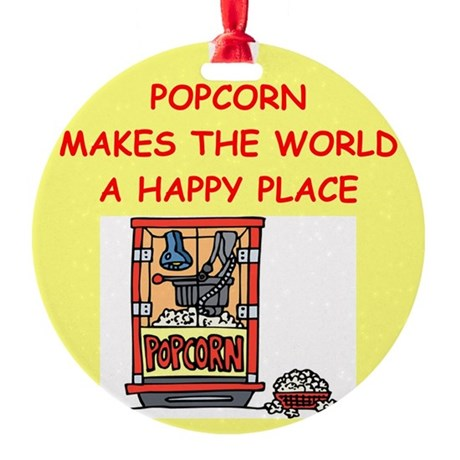 POPCORN.png Round Ornament
