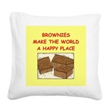 Brownies Square Canvas Pillows