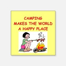 """CAMPING.png Square Sticker 3"""" x 3"""""""
