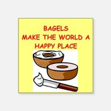 "BAGELS.png Square Sticker 3"" x 3"""