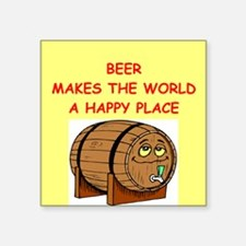 """BEER.png Square Sticker 3"""" x 3"""""""