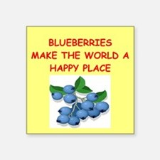 "BLUEBERRIES.png Square Sticker 3"" x 3"""