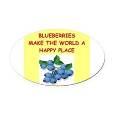 BLUEBERRIES.png Oval Car Magnet