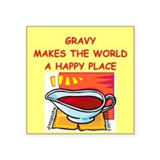 "GRAVY.png Square Sticker 3"" x 3"""