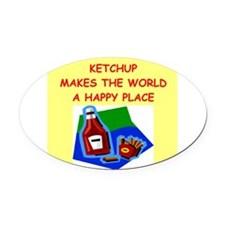 KETCHUP.png Oval Car Magnet