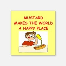 """MUSTARD.png Square Sticker 3"""" x 3"""""""