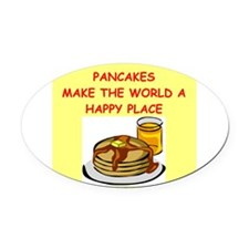 PANCAKES.png Oval Car Magnet