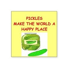 """PICKLES.png Square Sticker 3"""" x 3"""""""