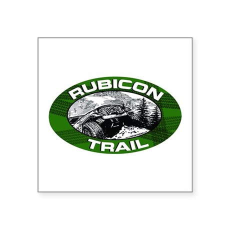 Rubicon Trail Green Oval Oval Sticker