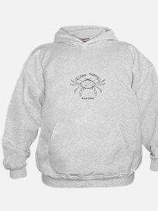 Blue Crab Logo Hoodie