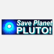 Save Planet Pluto Bumper Bumper Bumper Sticker