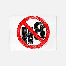 No Hate - < NO H8 > 5'x7'Area Rug