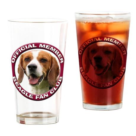 Beagle Fan Club 2 Drinking Glass