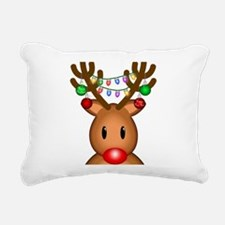 Reindeer with lights Rectangular Canvas Pillow