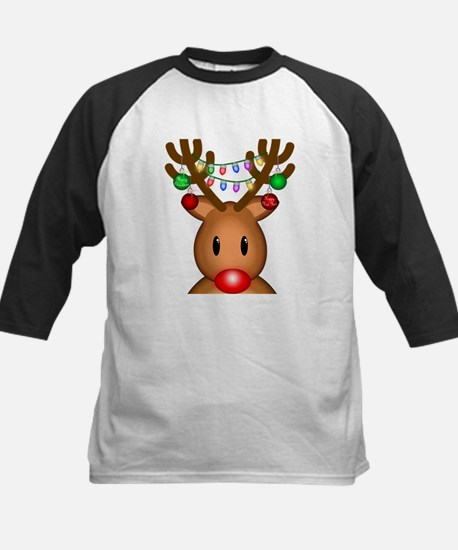 Reindeer with lights Kids Baseball Jersey