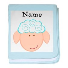 Personalized Sheep baby blanket