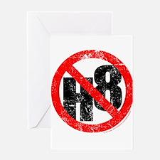 No Hate - < NO H8 > Greeting Card