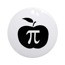 Apple Pi Ornament (Round)